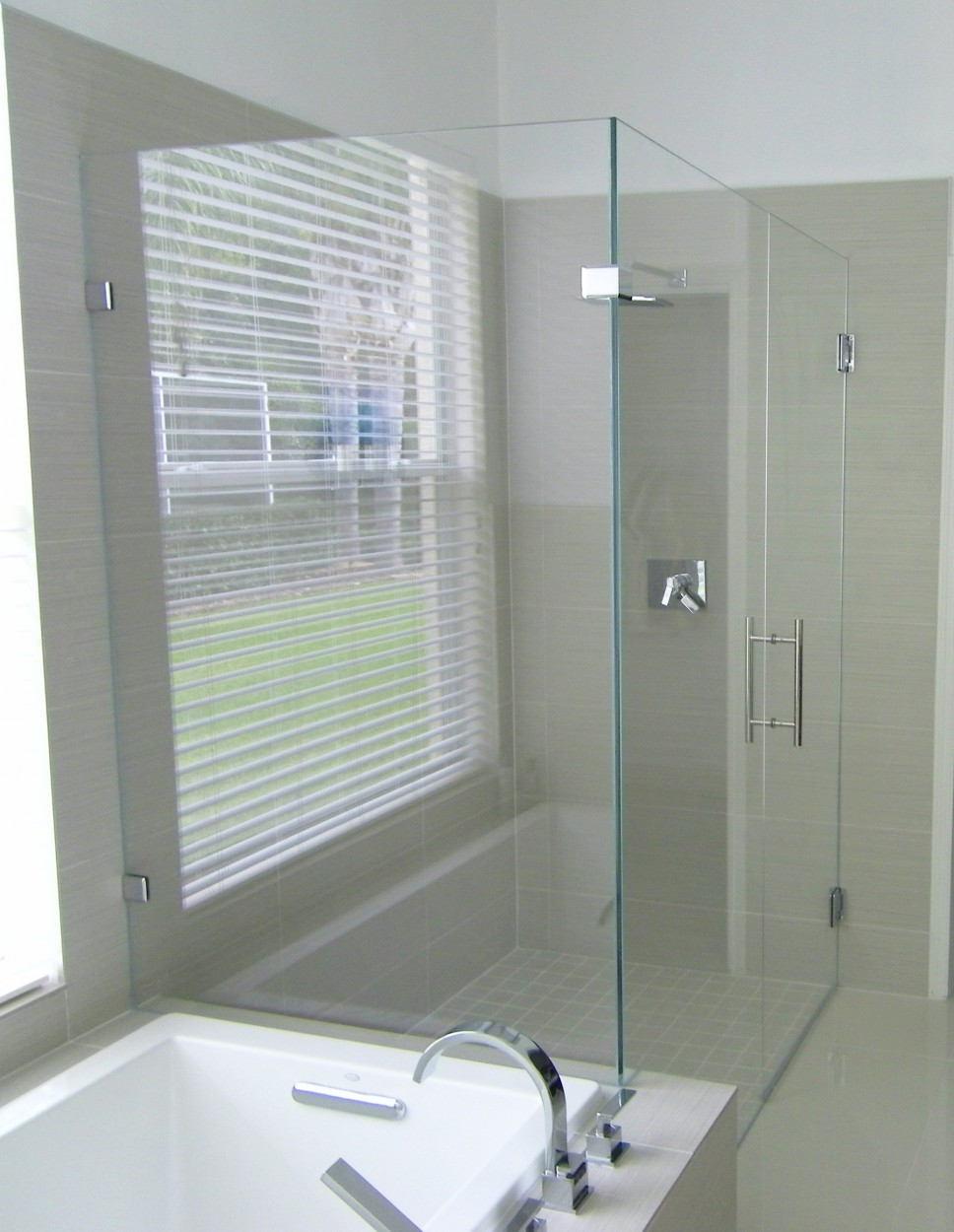 90 Corner Glass To Glass Shower Enclosure Allservices