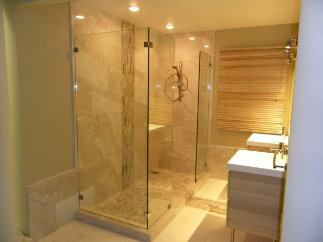 Shower Screen Stationery Panel Allservices Frameless Glass Company